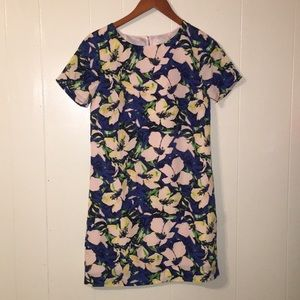 J Crew Floral Sheath Dress, Size 00, EUC